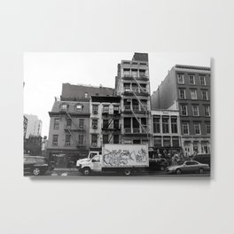 Tribeca Street Scene Metal Print