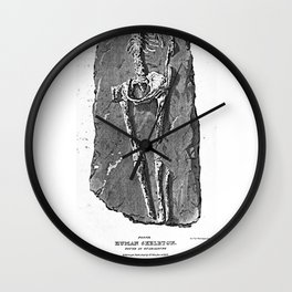 Fossil. Human Skeleton. Found in Guadaloupe Wall Clock