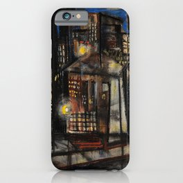 Classical African-American Masterpiece 'Harlem at Midnight' by Charles Alston iPhone Case
