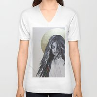 bohemian V-neck T-shirts featuring Bohemian Angel by Iva Mara