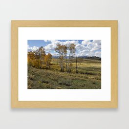 Lamar Valley in the Fall - Yellowstone Framed Art Print