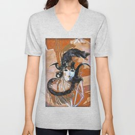 Feathered Mask Burano Unisex V-Neck