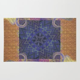 Blue Buffalo Roaming Round Rug