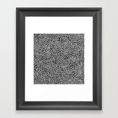 White Scallops Framed Art Print