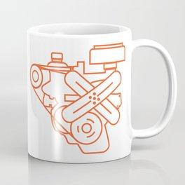 Minimalist Slant Six Engine Coffee Mug