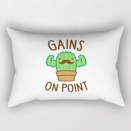 Gains On Point (Cactus Pun) Rectangular Pillow