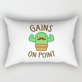 Gains On Point (Cactus Pun) Rectangular Pillow