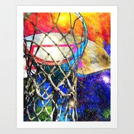Colorful Basketball Art Art Print