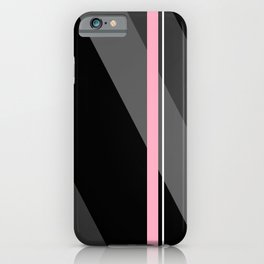 Thin And Thick Lines - Pink iPhone Case