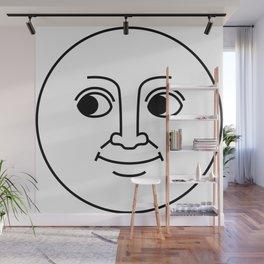 Creepy Moon Face Wall Mural