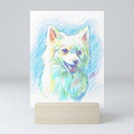 Happy Pomeranian Mini Art Print