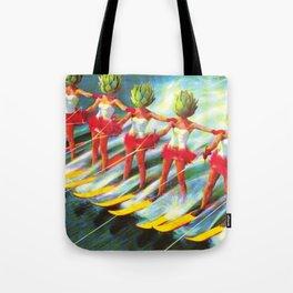 The artichoke skiers Tote Bag