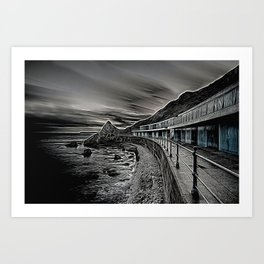 Meadfoot Beach Huts - Digital Art Print