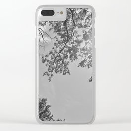 Contemplating the skies Clear iPhone Case