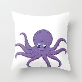 Octopus Octopoda Squids Cuttlefish Polyp Sea Gift  Throw Pillow