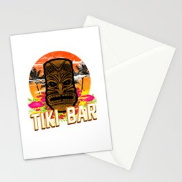 Follow Me To The Tiki Bar Hawaiian Luau Party Pun Design Vacation Gift Stationery Cards