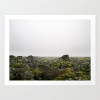 iceland Art Prints featuring Iceland by Heroines