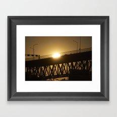 Sunshine on bridge of Montreal Framed Art Print
