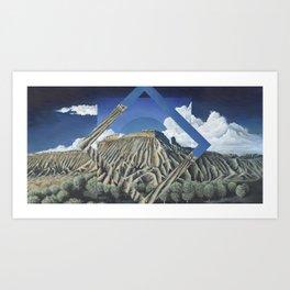 Mount Garfield Polyscape Art Print