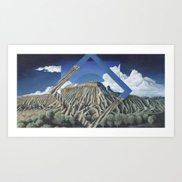 Mount Garfield Polyscape Art Print