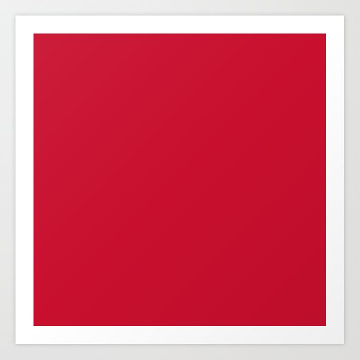 Houston Football Team Red Solid Mix And Match Colors Art Print