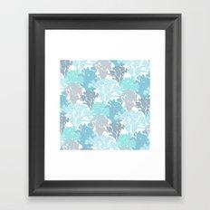 Acer Bouquets - Blues Framed Art Print