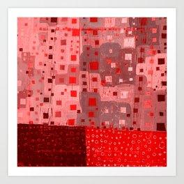 City Grid in Red Art Print