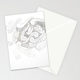 Paisley Handwriting Lyrics Stationery Cards