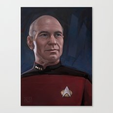 Captain Picard Canvas Print