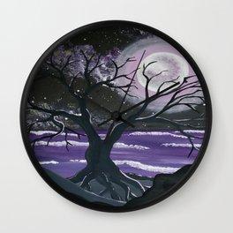 Moonlight & Mauve Wall Clock