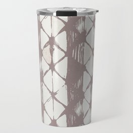Simply Braided Chevron Red Earth on Lunar Gray Travel Mug