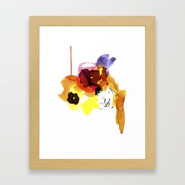 bloomy September Framed Art Print
