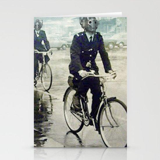 Cybermen on bikes Stationery Cards