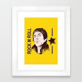 Rock n Roll Star Framed Art Print