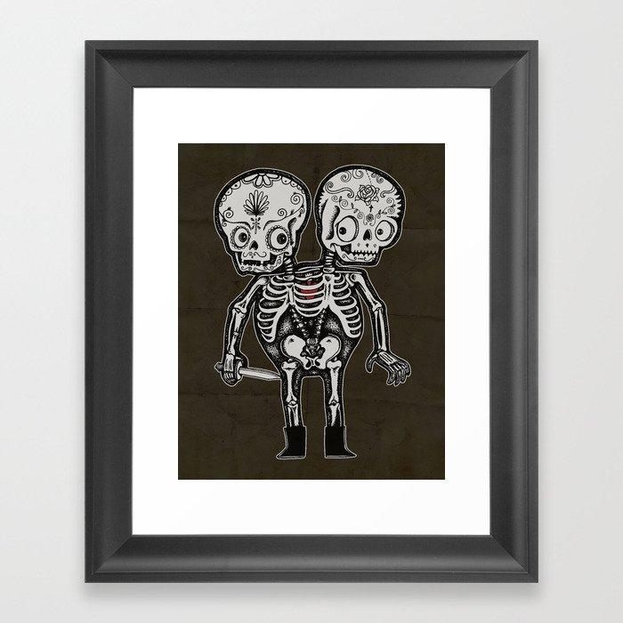 Twinsies Framed Art Print