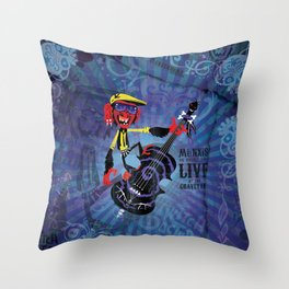 Münxis - Bass. The Twitch Doctors. Throw Pillow