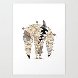 Holy beast shamanic character Art Print