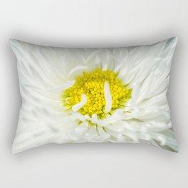 White English Daisy Flower Rectangular Pillow