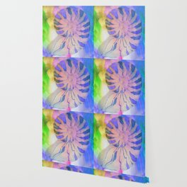 NAUTILUS SEA SHELL BLUE AND PURPLE IMPRESSIONS Wallpaper