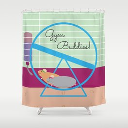 Gym Buddies Shower Curtain
