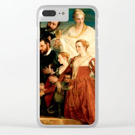 "Veronese (Paolo Caliari) ""The Madonna of the Cuccina Family"" Clear iPhone Case"
