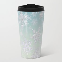 Frosty Day - Snowflakes Travel Mug