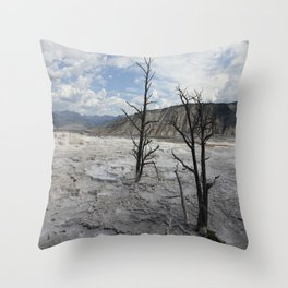 Mammoth Hot Spring  Terrace Throw Pillow