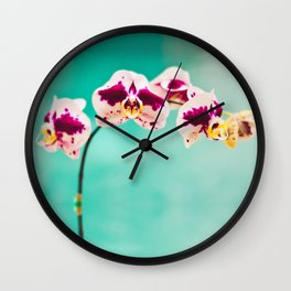 Orchids for an office lobby Wall Clock