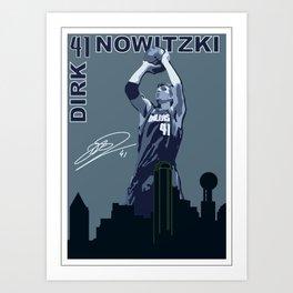 Dirk Over Dallas Art Print