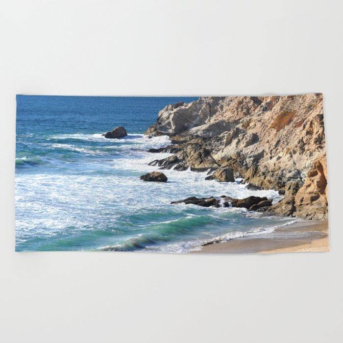 CALIFORNIA COAST - BLUE OCEAN Beach Towel