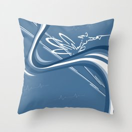 Curve Master - Slalom Carver Throw Pillow