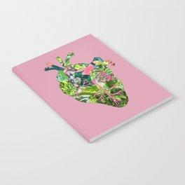 Botanical Heart Pink Notebook