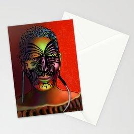 Maori Warrior 3 Stationery Cards