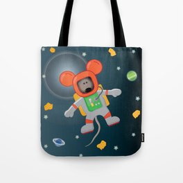 Space Mouse floating in space Tote Bag